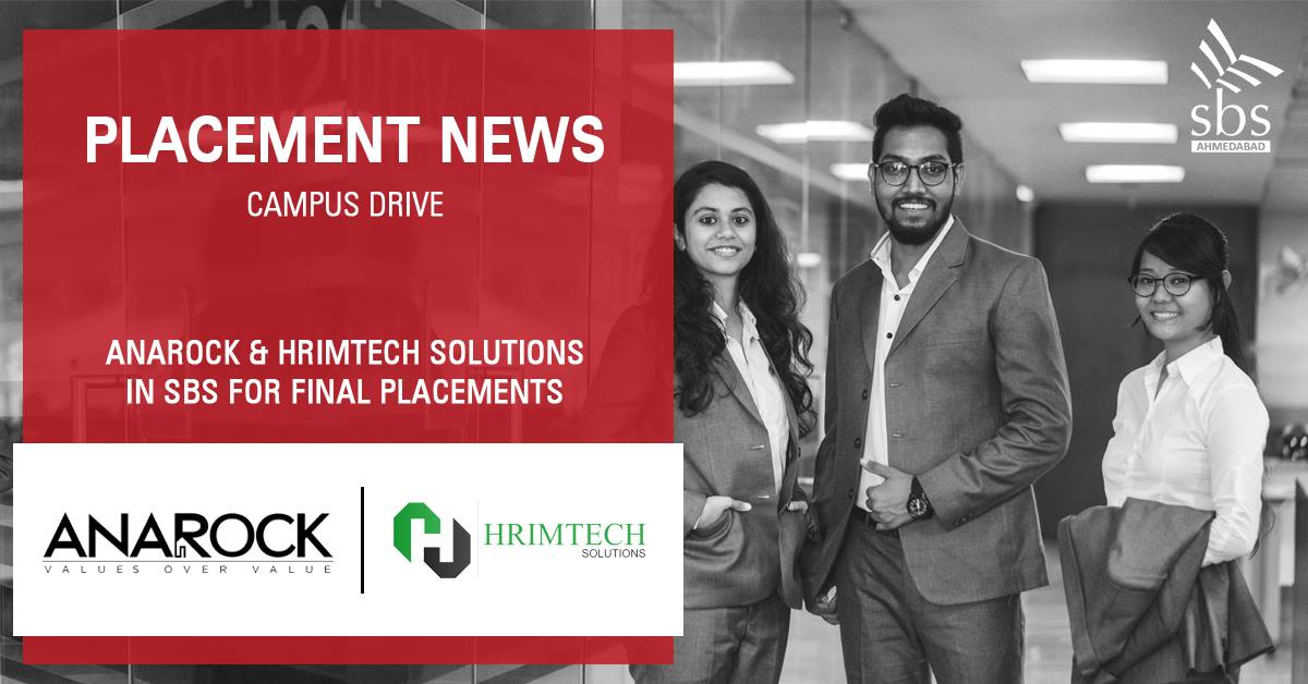 PLACEMENT NEWS - Anarock & Hrimtech Solutions in SBS