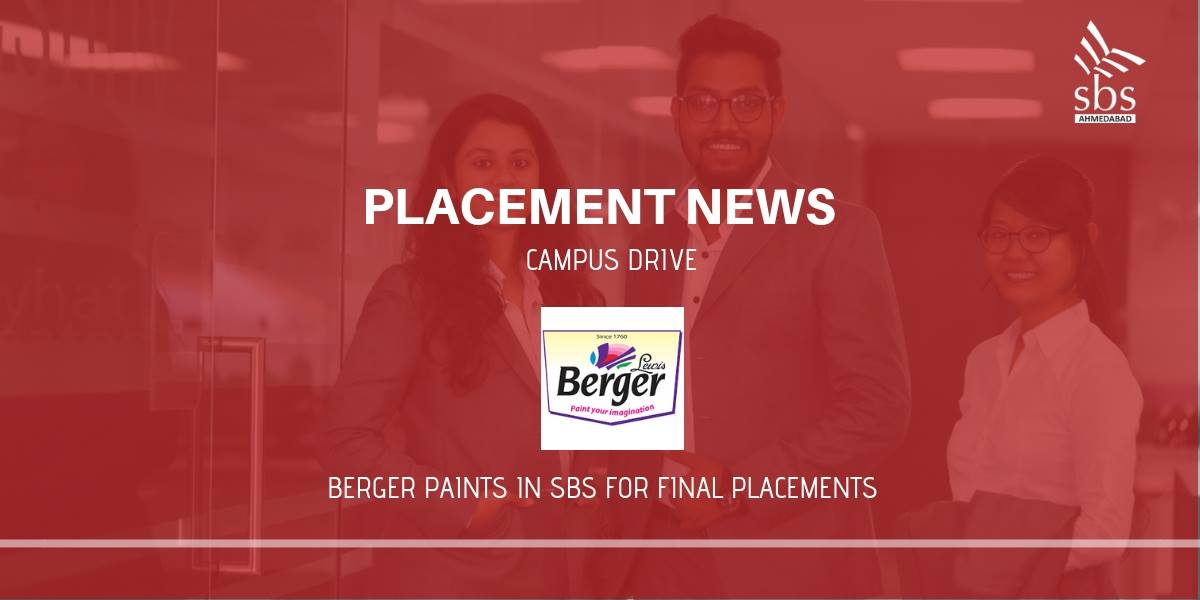 PLACEMENT NEWS Berger Paints in SBS for Placement