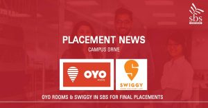 PLACEMENT NEWS Campus Drive at Shanti Business School, Ahmedabad OYO & Swiggy in SBS