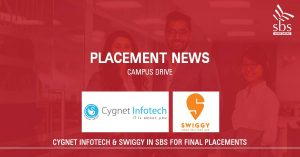 PLACEMENT NEWS - Cygnet Infotech Pvt. Ltd. & Swiggy in SBS