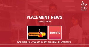 PLACEMENT NEWS - Extramarks & Zomato in SBS for Placement