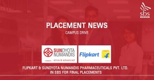 PLACEMENT NEWS - Flipkart & Sundyota Numandis Pharmaceuticals Pvt. Ltd in SBS for Placement