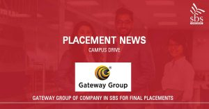PLACEMENT NEWS - Gateway Group of Companies in SBS for Placement