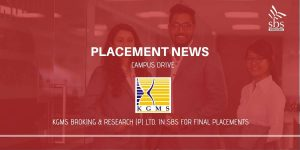 PLACEMENT NEWS - KGMS Broking and Research (P) Ltd in SBS for Placement