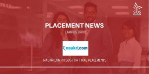 PLACEMENT NEWS Naukri.com in SBS for Placement
