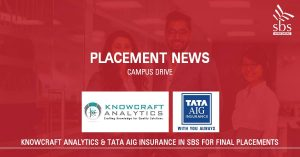 TATA AIG & Knowcraft Analytics in SBS