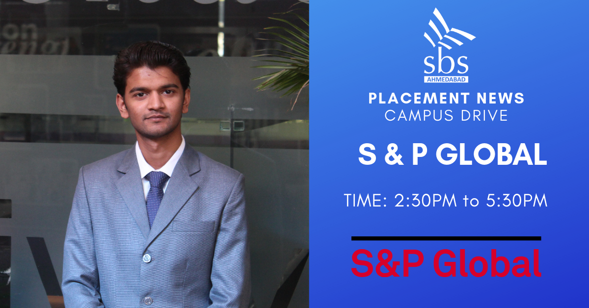 PLACEMENT NEWS- SBS Ahmedabad