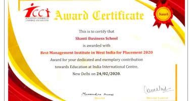 Award for Best Management Institute