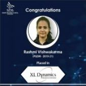 SBS extends a warm and hearty congratulations to Ms. Rashmi Vishwakarma from PGDM Batch 2019-21